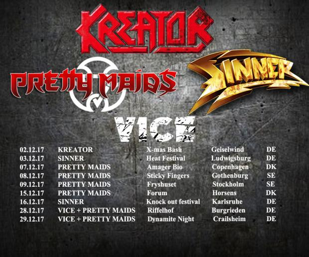 On Tour with KREATOR, PRETTY MAIDS, SINNER and VICE