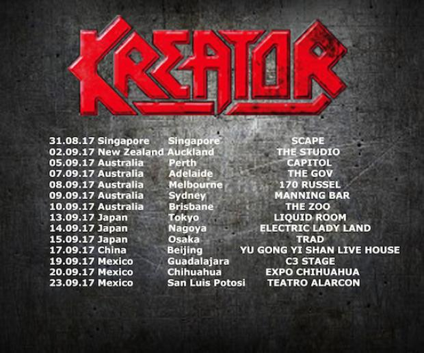 Tourmanager and FOH-Soundengineer for KREATOR around the world