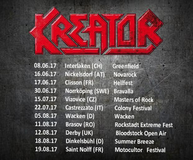 KREATOR FOH-Engineer and Tourmanager