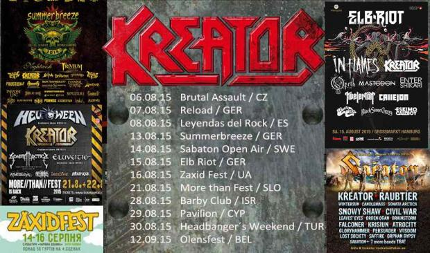 KREATOR Sommer Festival Tour