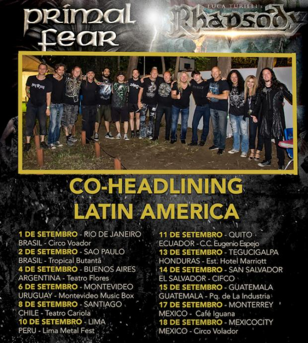 Latin American Tour with RHAPSODY and PRIMAL FEAR