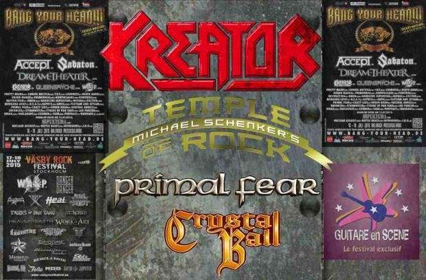 Sommer Festivals mit KREATOR, PRIMAL FEAR, CRYSTAL BALL und MICHAEL SCHENKER´s TEMPLE OF ROCK