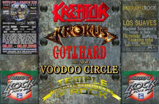 Sommer Festivals mit KREATOR, KROKUS, GOTTHARD, VODOO CIRCLE und MICHAEL SCHENKER´s TEMPLE OF ROCK